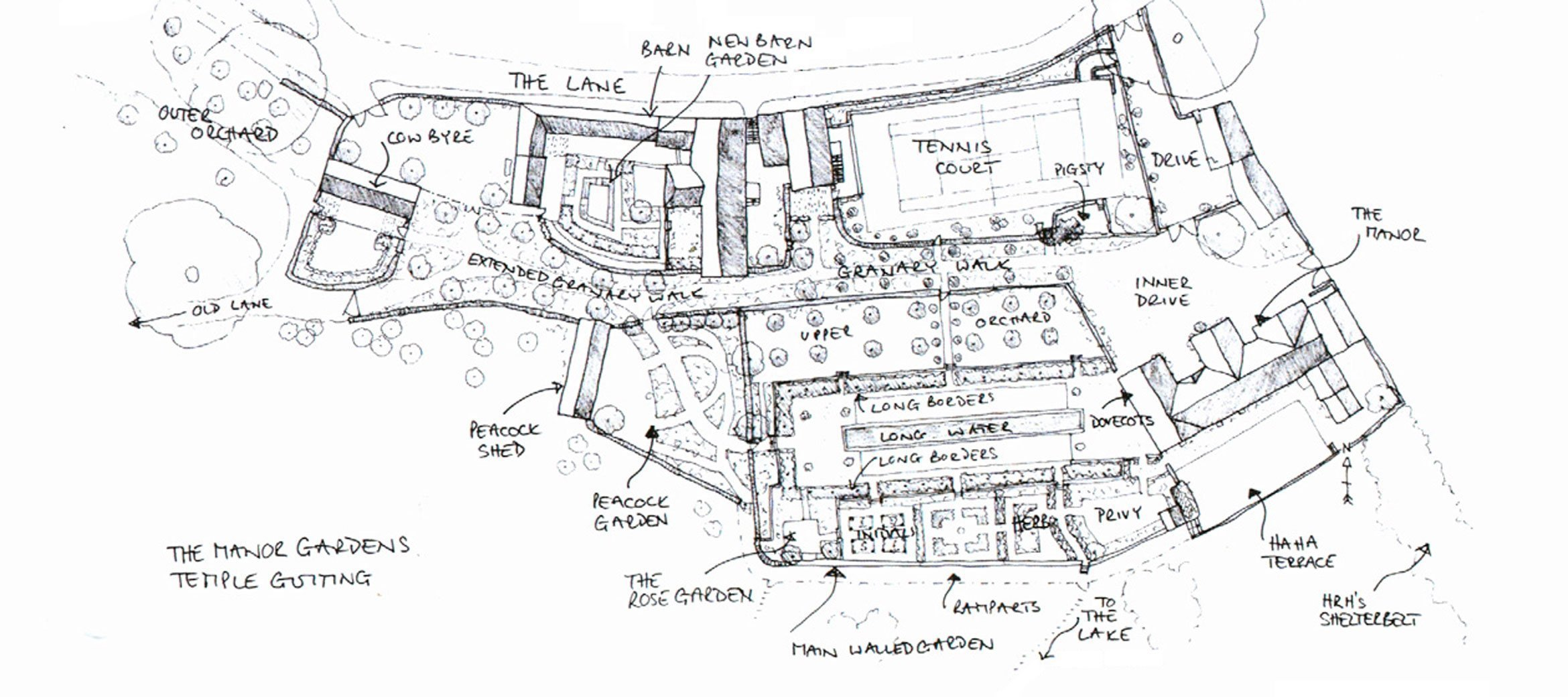 View the floorplan of Temple Guiting Manor & Peacock Shed