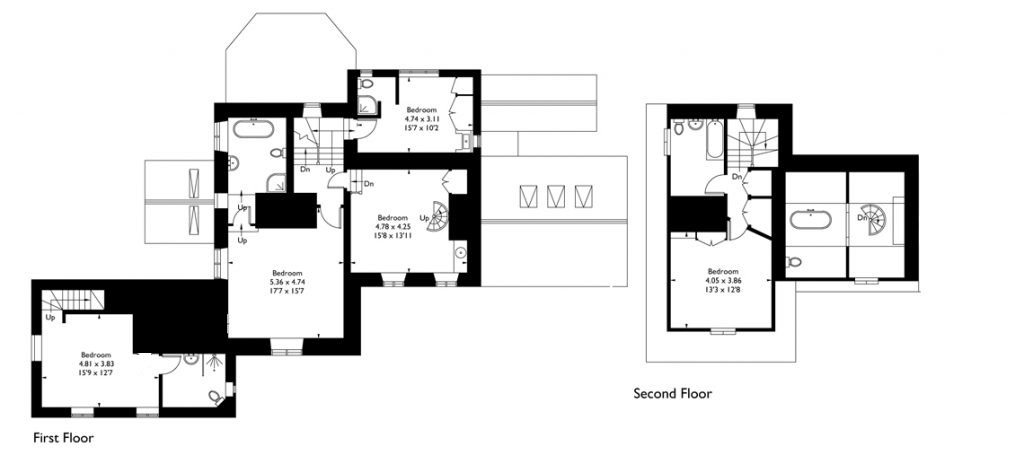 View the floorplan of Dryhill House & Barn
