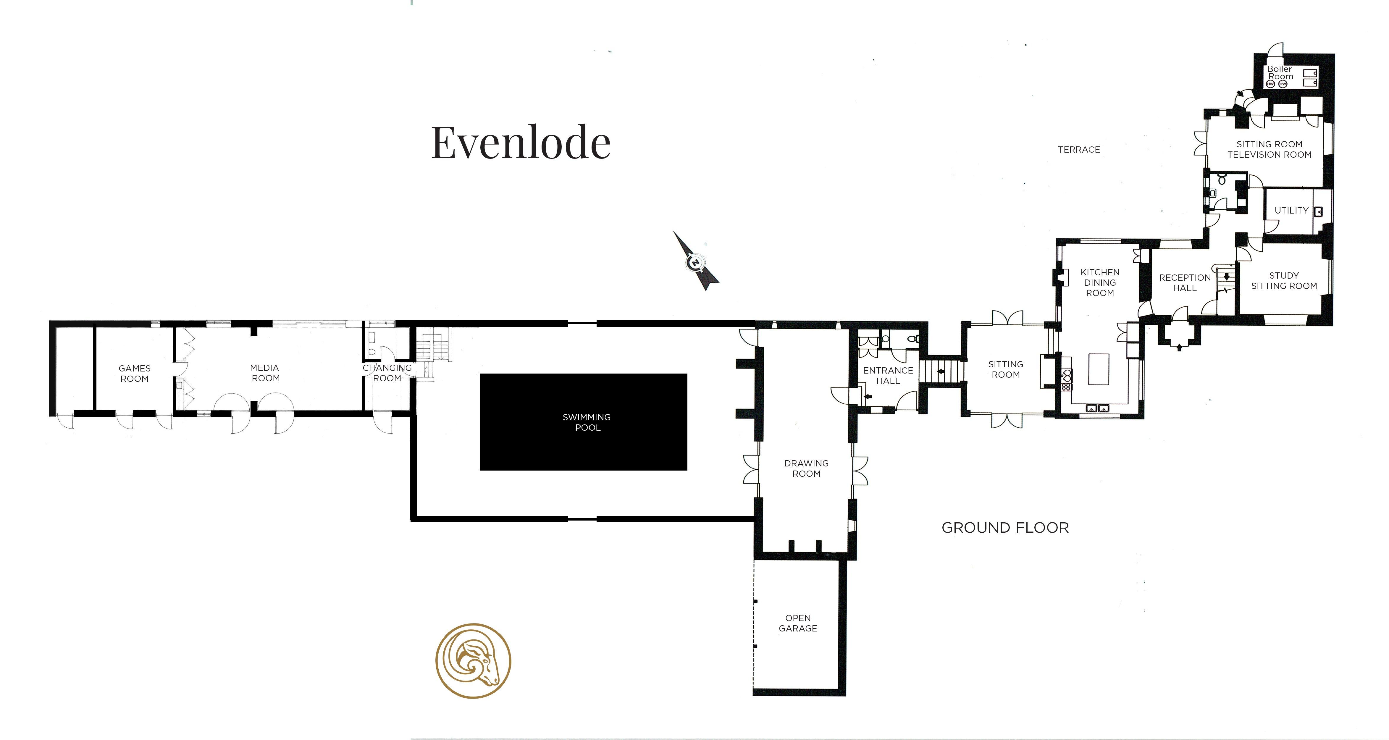 View the floorplan of Home Farm Evenlode