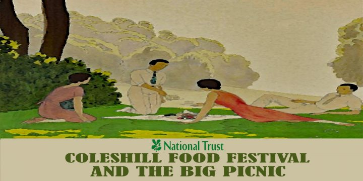 big-picnic-flyer-featuring-a-deco-style-scene-of-a-group-of-people-picnicing